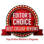Editor's choice best college reviews logo.